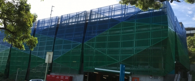 lismore hospital 6 levels of car parking safety barriers project
