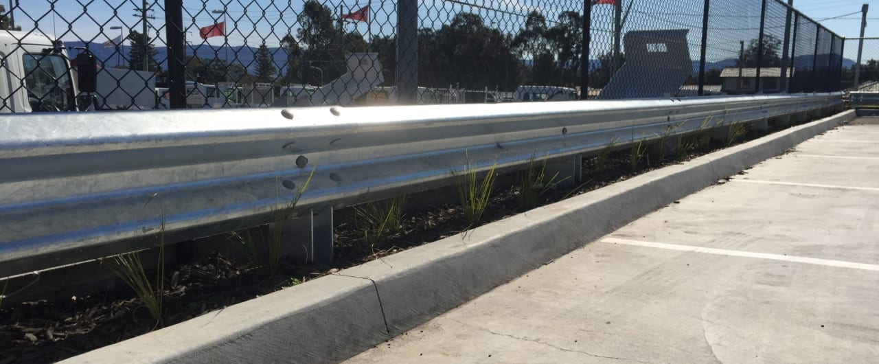 narrow footprint barrier system installation at masters albion park