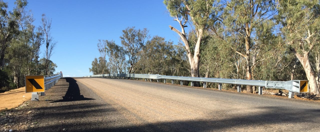 safe direction guardrail system supply for the narrabri bridge project
