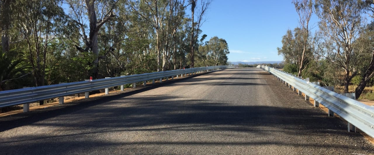 narrabri bridge renewal with safe direction road guardrail systems