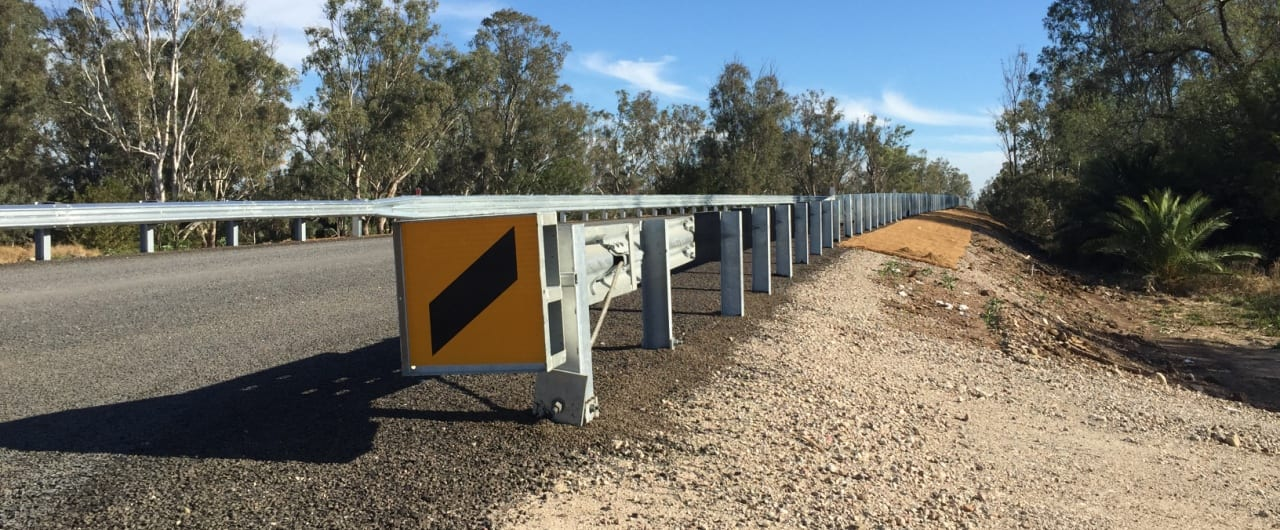 skt end terminal crash barrier installation for narrabri bridge project