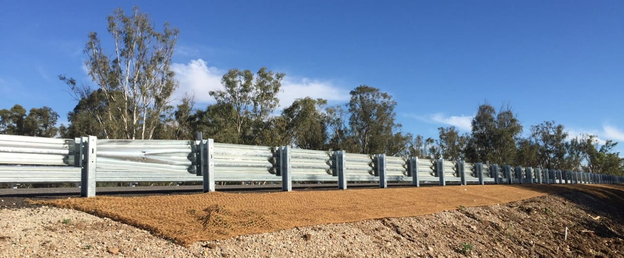 thrie beam guardrail crash barrier for narrabri bridge project