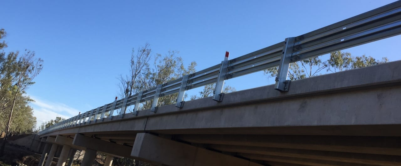 bridge safety guardrail installation at narrabri bridge
