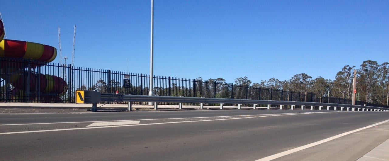 improving traffic flow at reconciliation road with w beam guardrail
