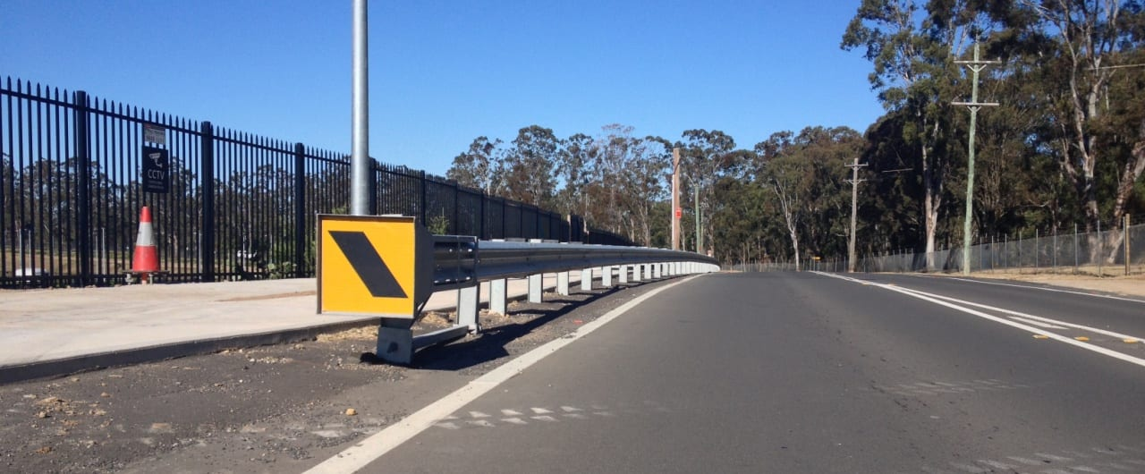 safe direction road safety barrier systems installation at reconciliation road