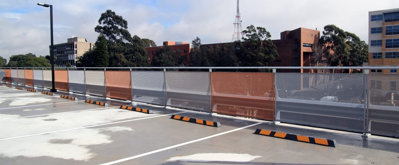 royal north shore hospital car park top level fall protection with rhino stop sky edge