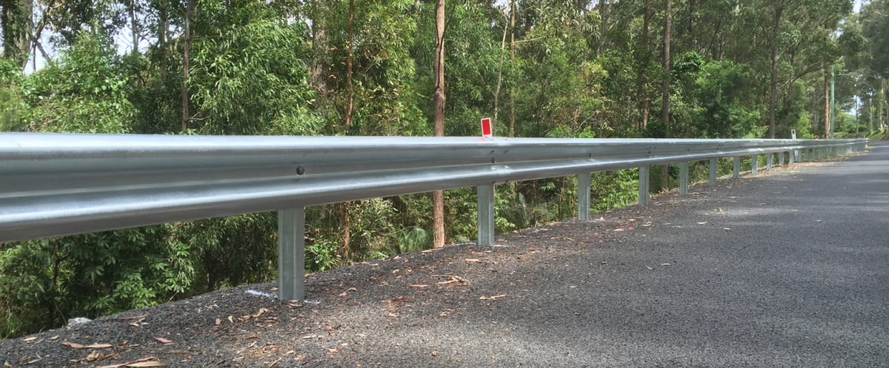 southern nsw roadside cliff fall protection with ramshield guardrail