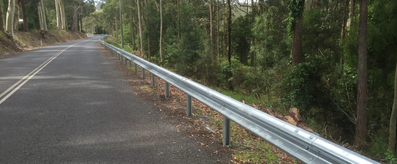 southern nsw run off road protection with ramshield guardrail