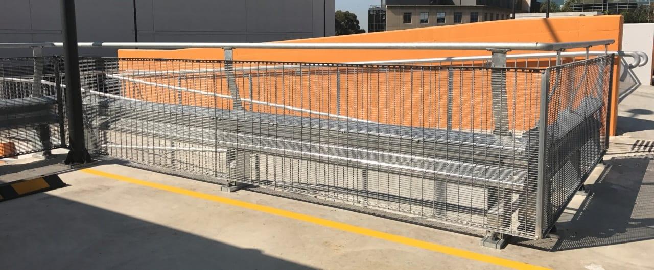 st george hospital car park split level protection with rhino stop sky edge