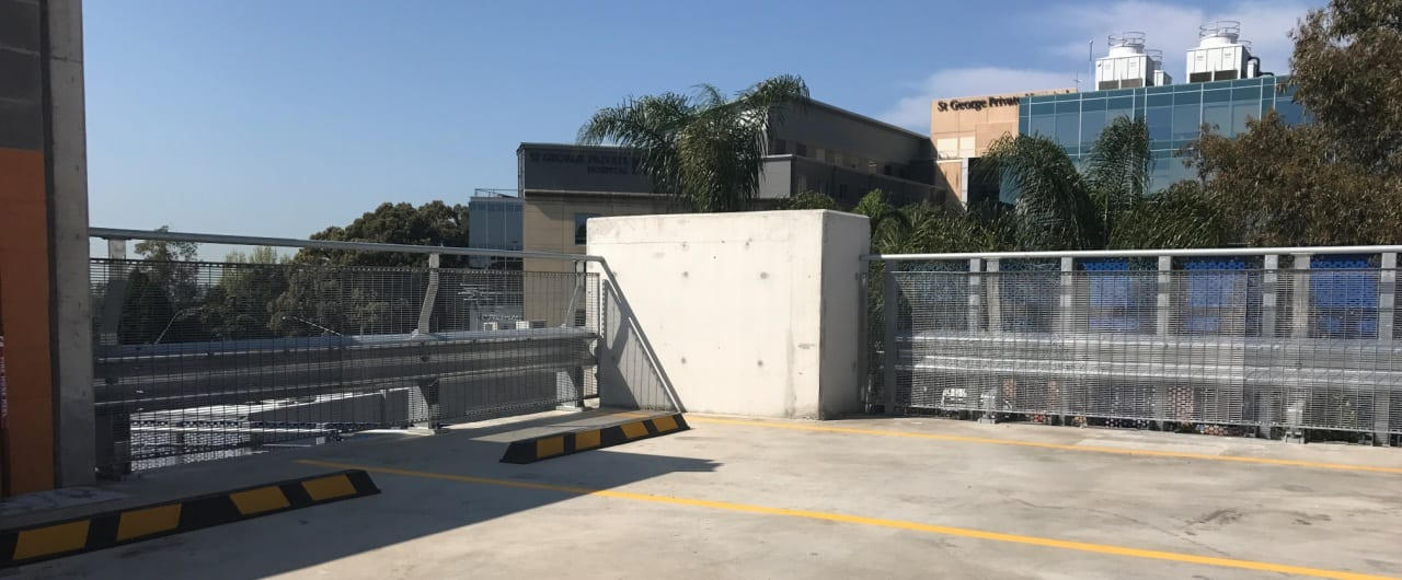 st george hospital car park safety barrier project