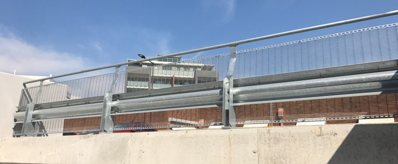 rhino stop sky edge car park safety barrier project at st george private hospital