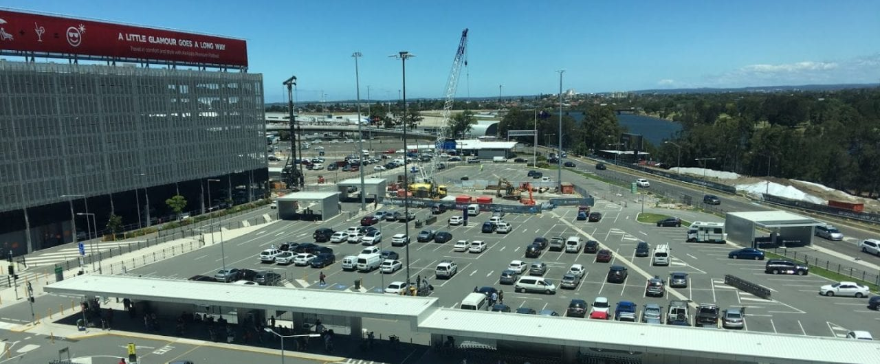 sydney airport car park pedestrian fencing system project