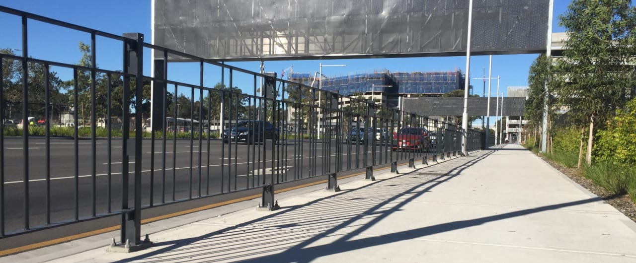 pedestrian fencing system project on sydney airport