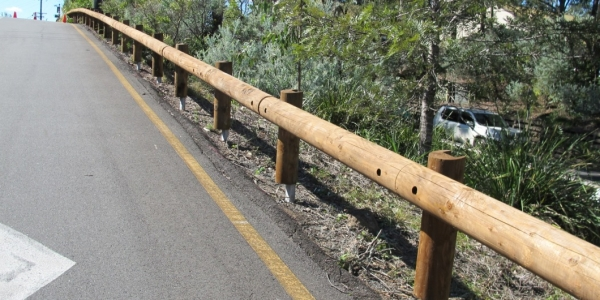 queensland road safety with t18 log rail