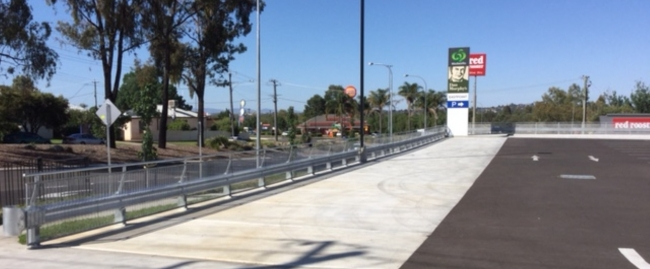 tamworth retail development car park safety barrier project