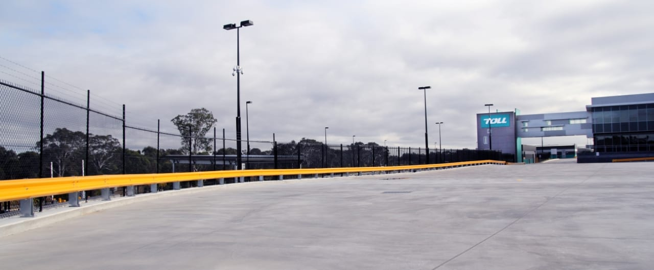 rhino stop safety barrier at toll car park