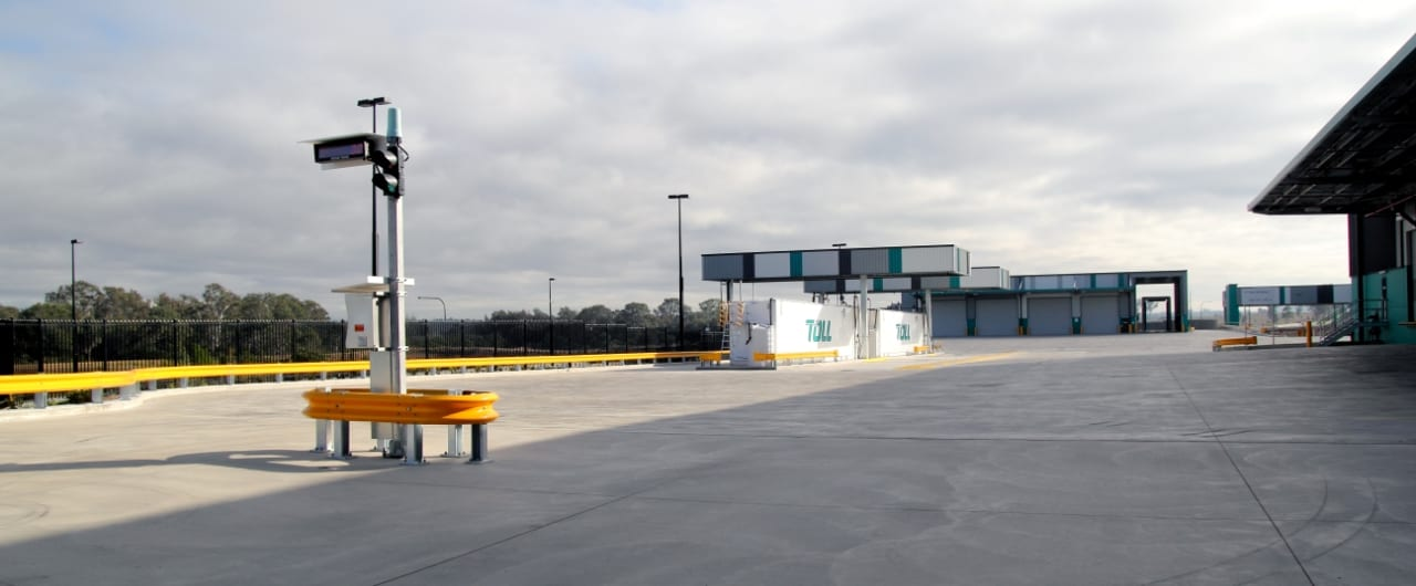 toll warehouse perimeter edge protection with rhino stop