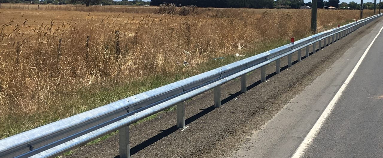 ramshield guardrail installed on both median and roadside locations