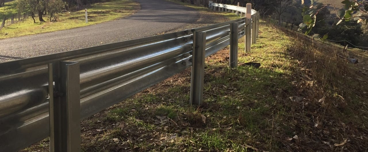 guardrail safety barrier installation at western nsw