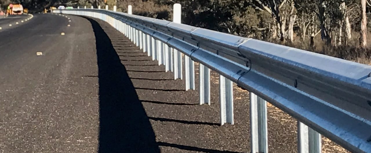 ramshield guardrail road crash barrier at weastern nsw