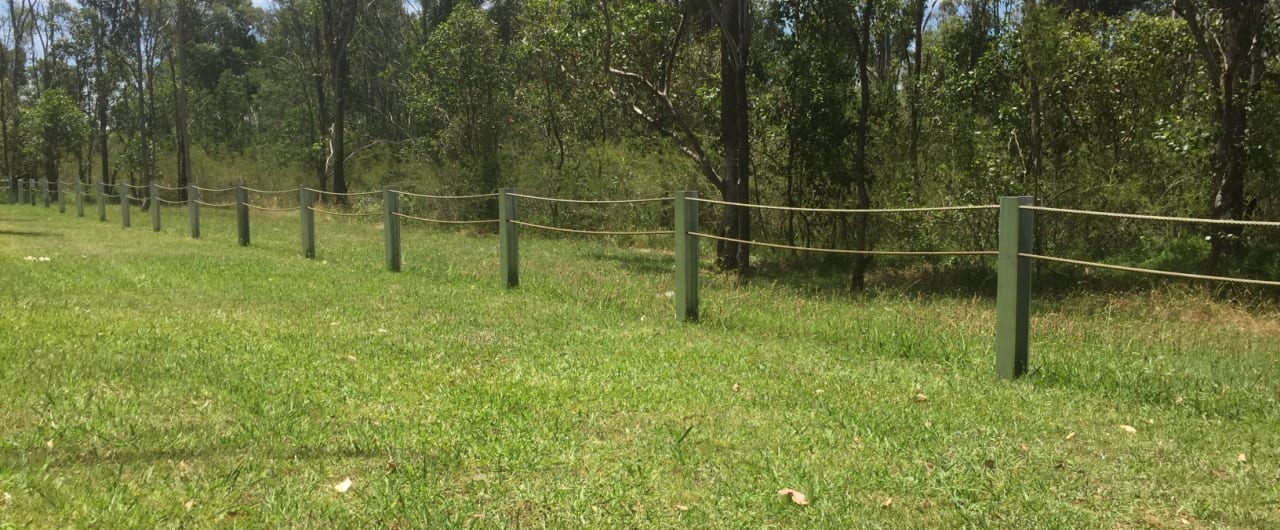 double steel cable pedestrian barrier project on western sydney parklands