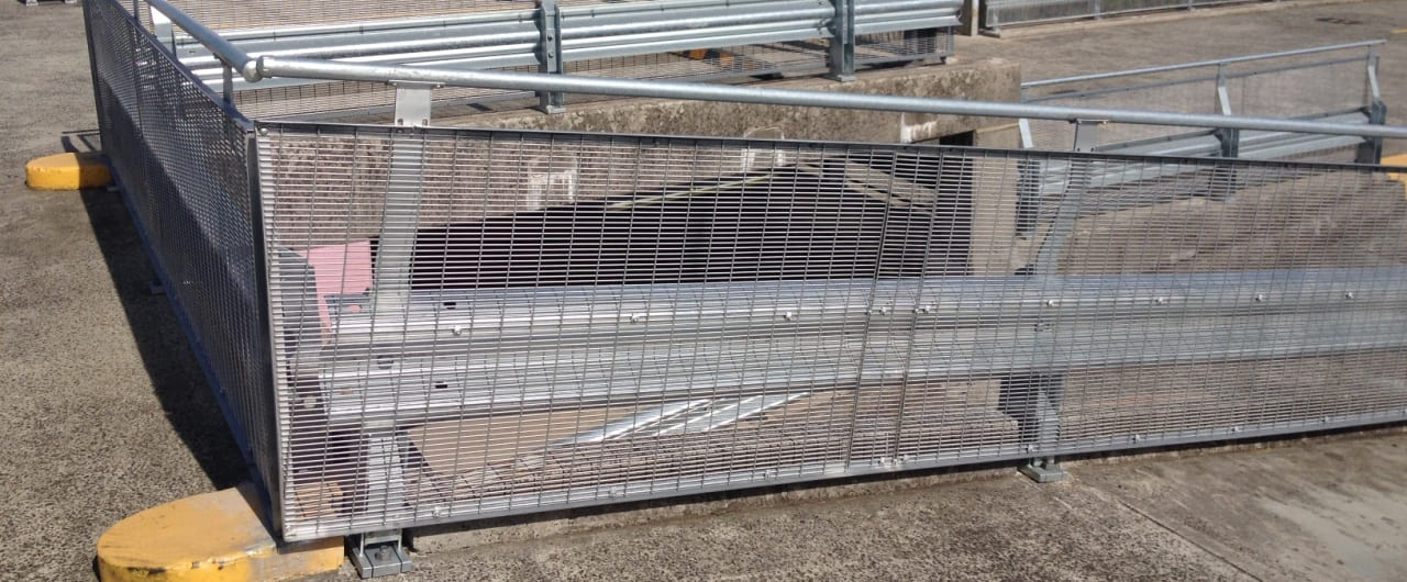 wollongong council car park ramp protection with rhino stop