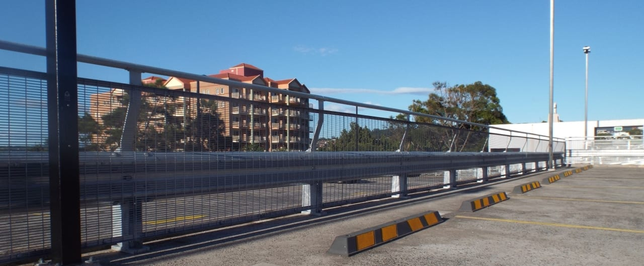 rhino stop type 4 car park barrier project at wollongong council car park