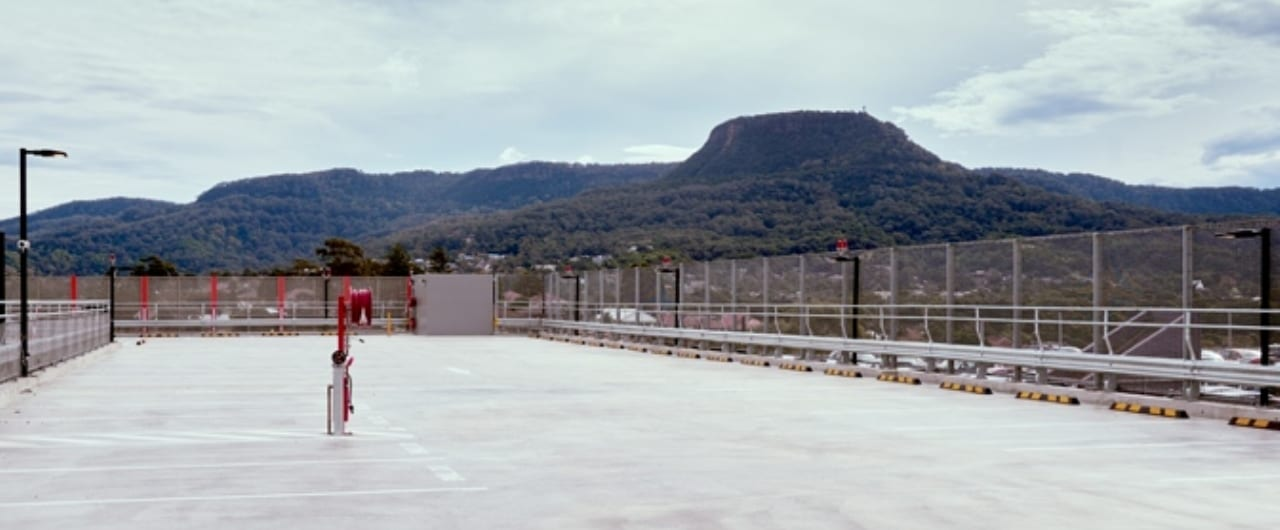 wollongong hospital car park safety barrier project