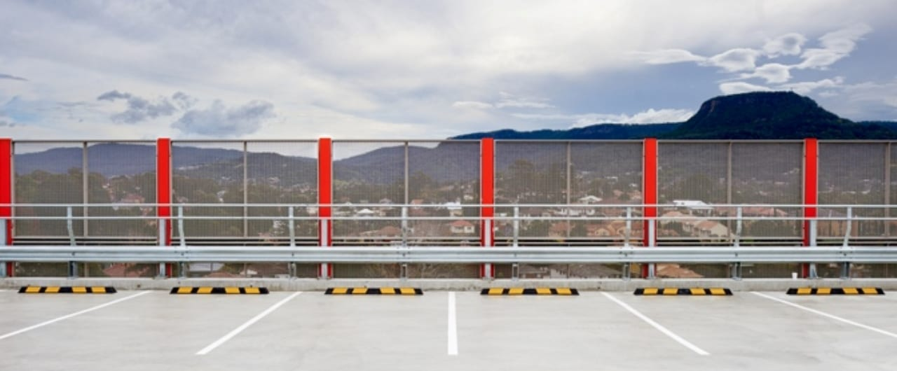 car park safety barrier installation at the top of wollongong car park