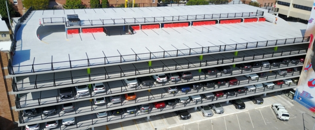 newcastle civic carpark 11 levels of car parking safety barrier project