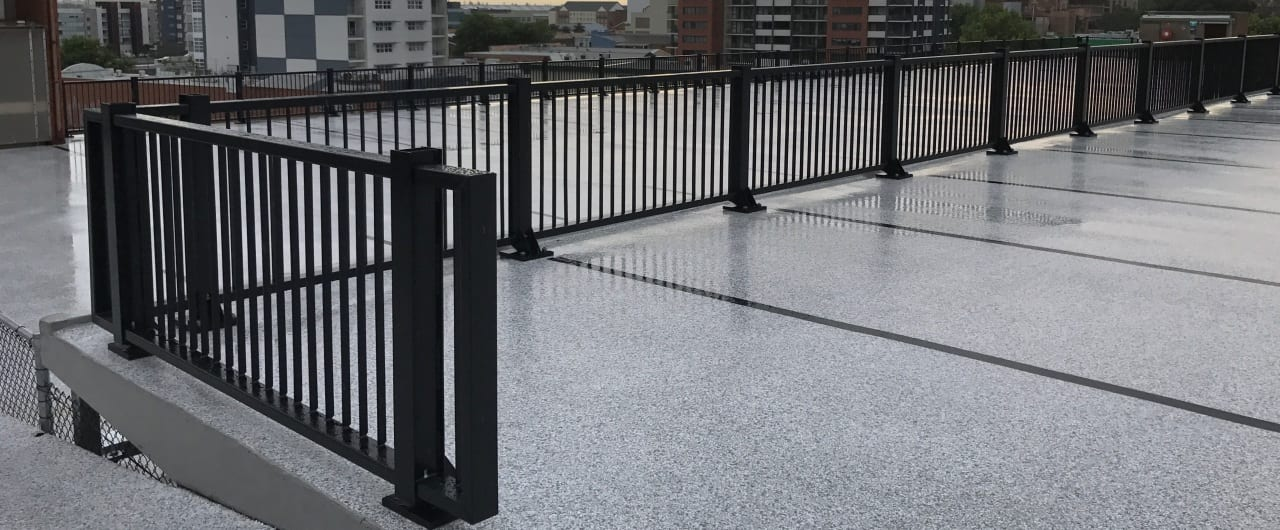 newcastle civic car park ramp protection with rhino stop elite