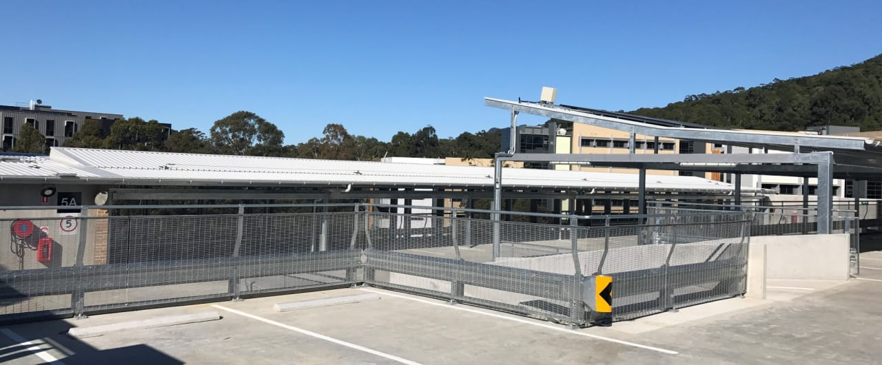 wollongong top level car park barrier system project