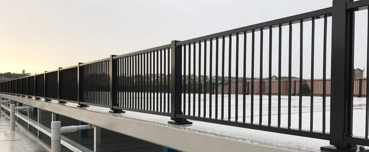 rhino stop elite perimeter edge fall protection barrier