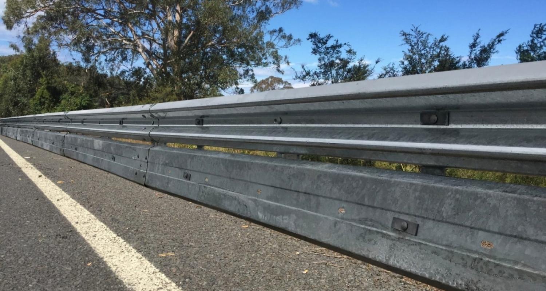 biker shield guardrail road barrier