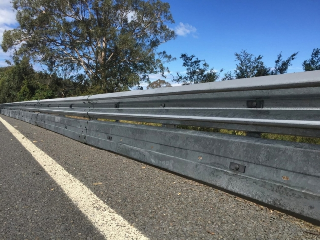 biker shield guardrail road barrier