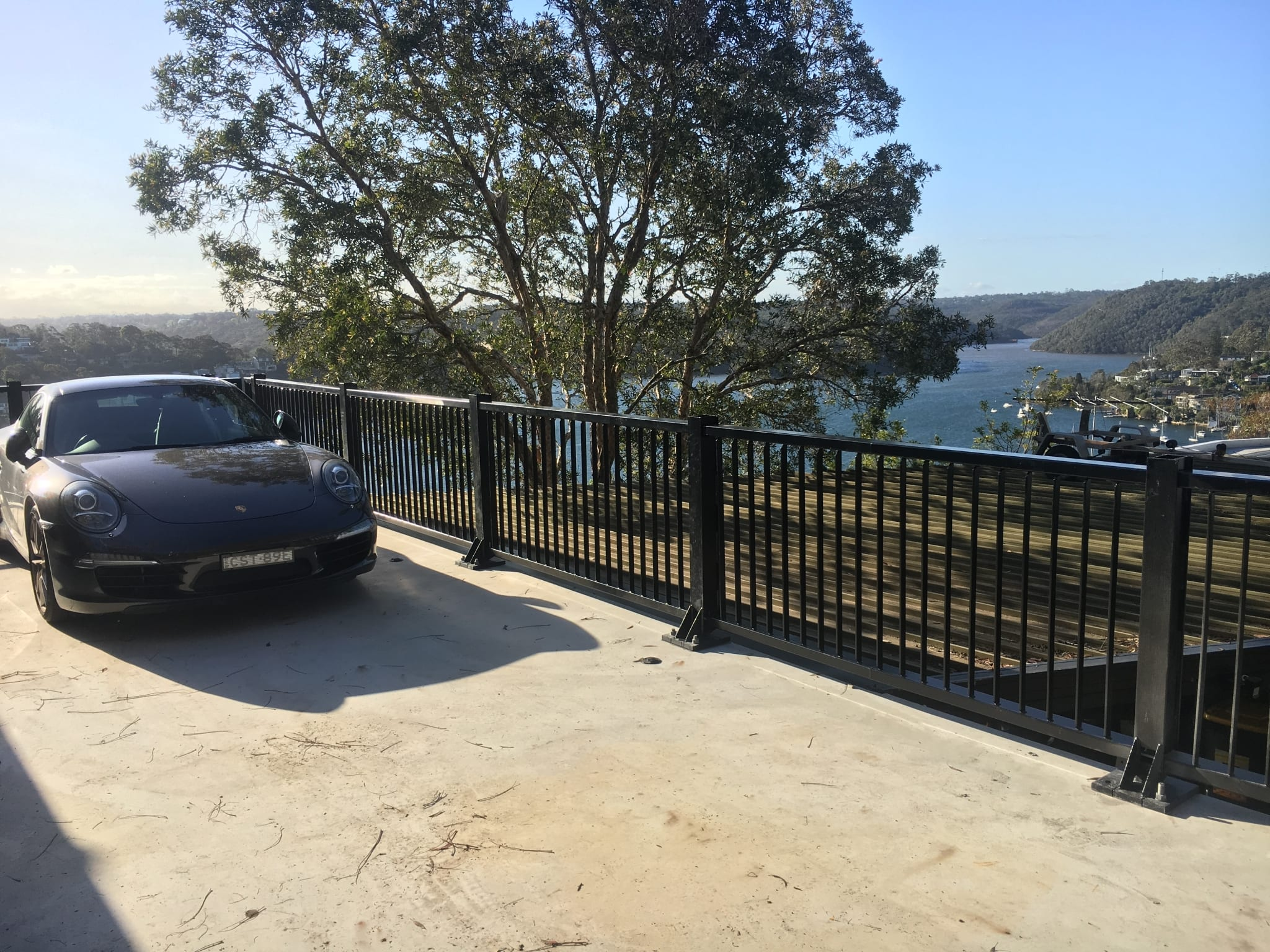 car park safety barrier installation at seaforth residence
