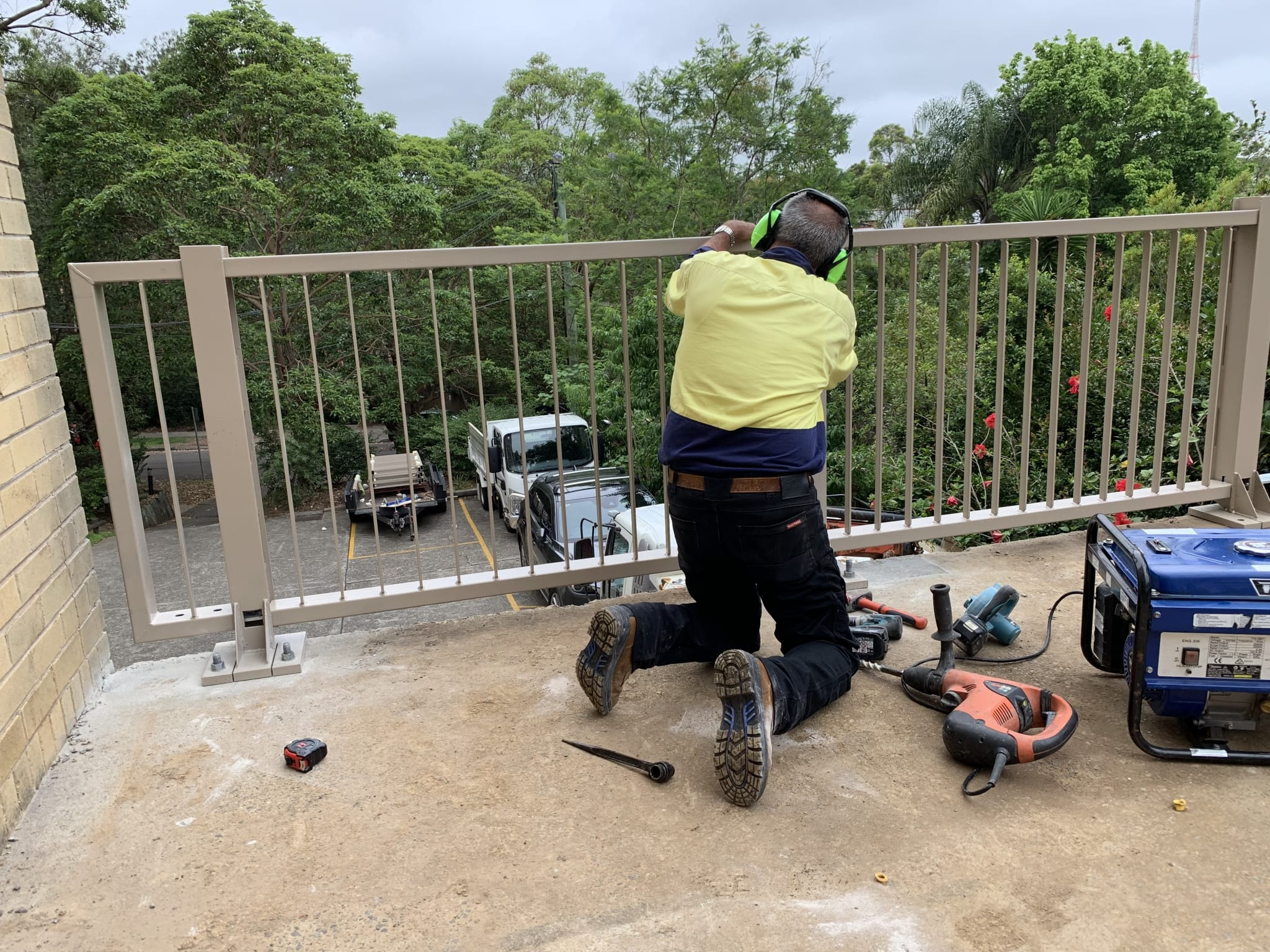 rhino stop elite car park safety barrier project at artarmon apartment complex