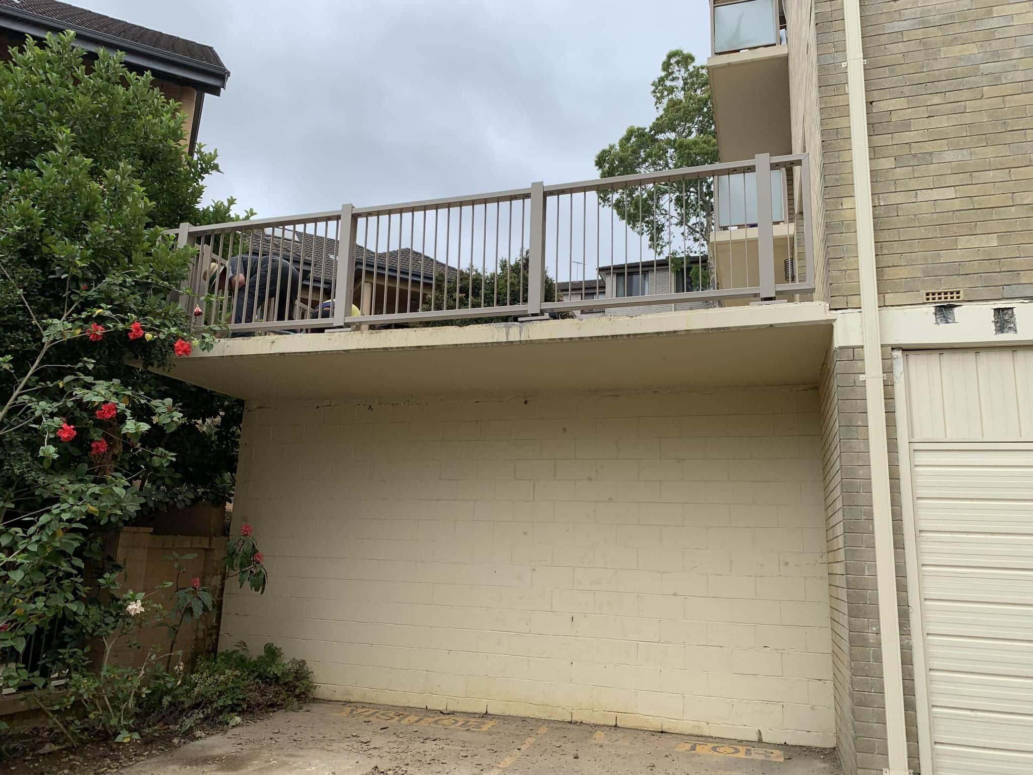 artarmon apartment complex perimeter edge protection with rhino stop elite