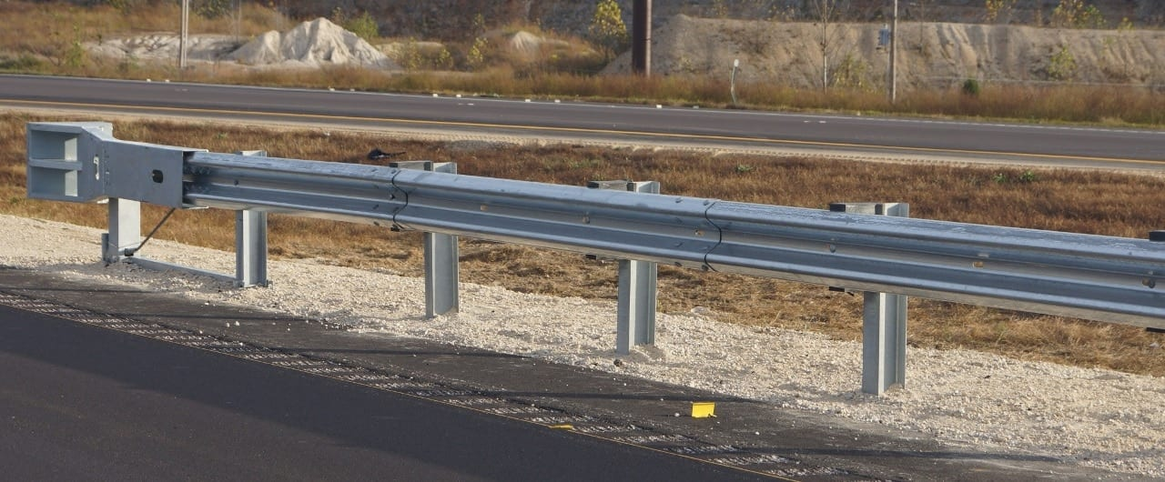 road barrier system with mash skt end terminal