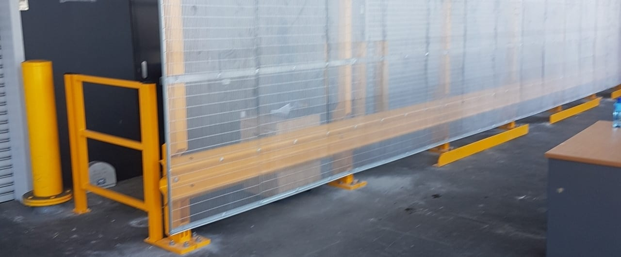 warehouse safety barrier rhino stop screen