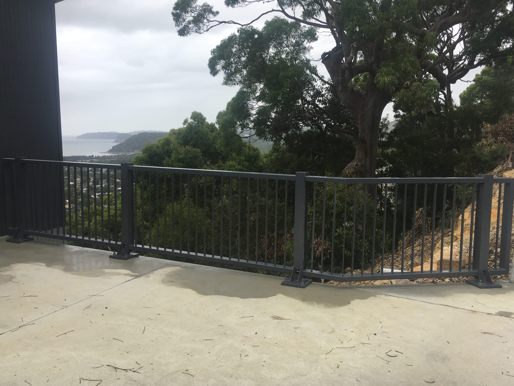 car park safety barrier project at umina beach vista