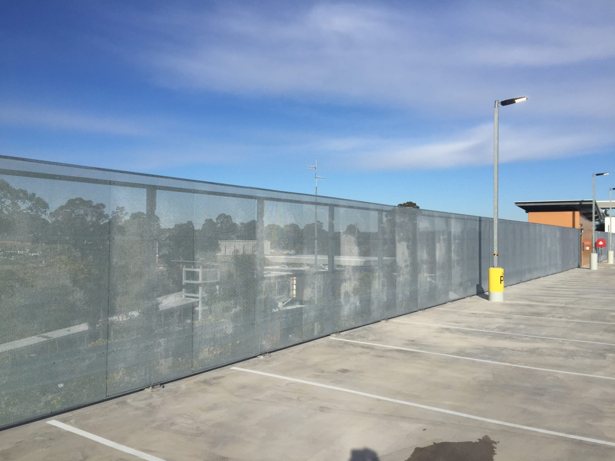 holsworthy commuter car park fall protection with rhino stop screen