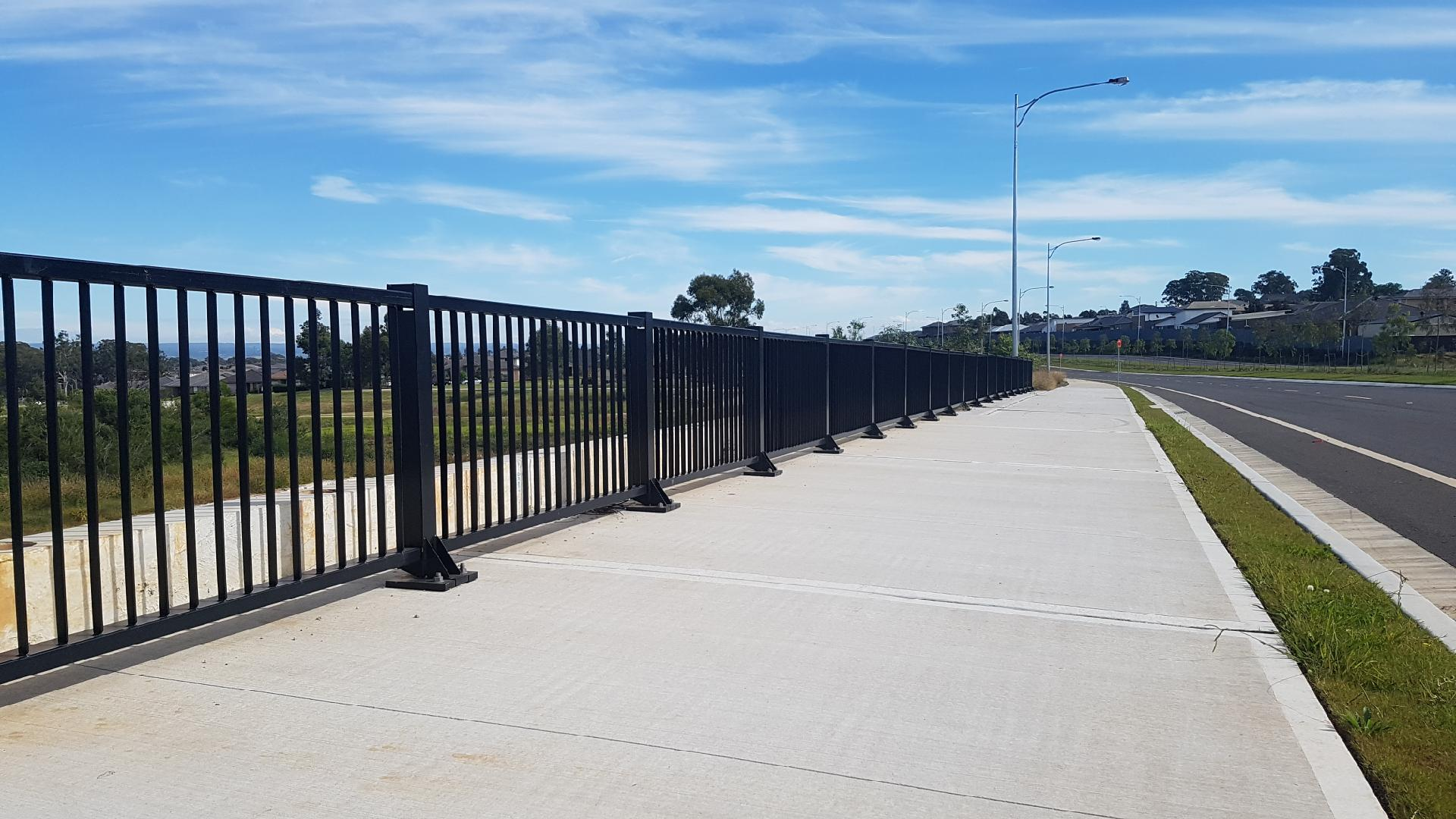 bridge pedestrian pathway fall protection with rhino stop elite