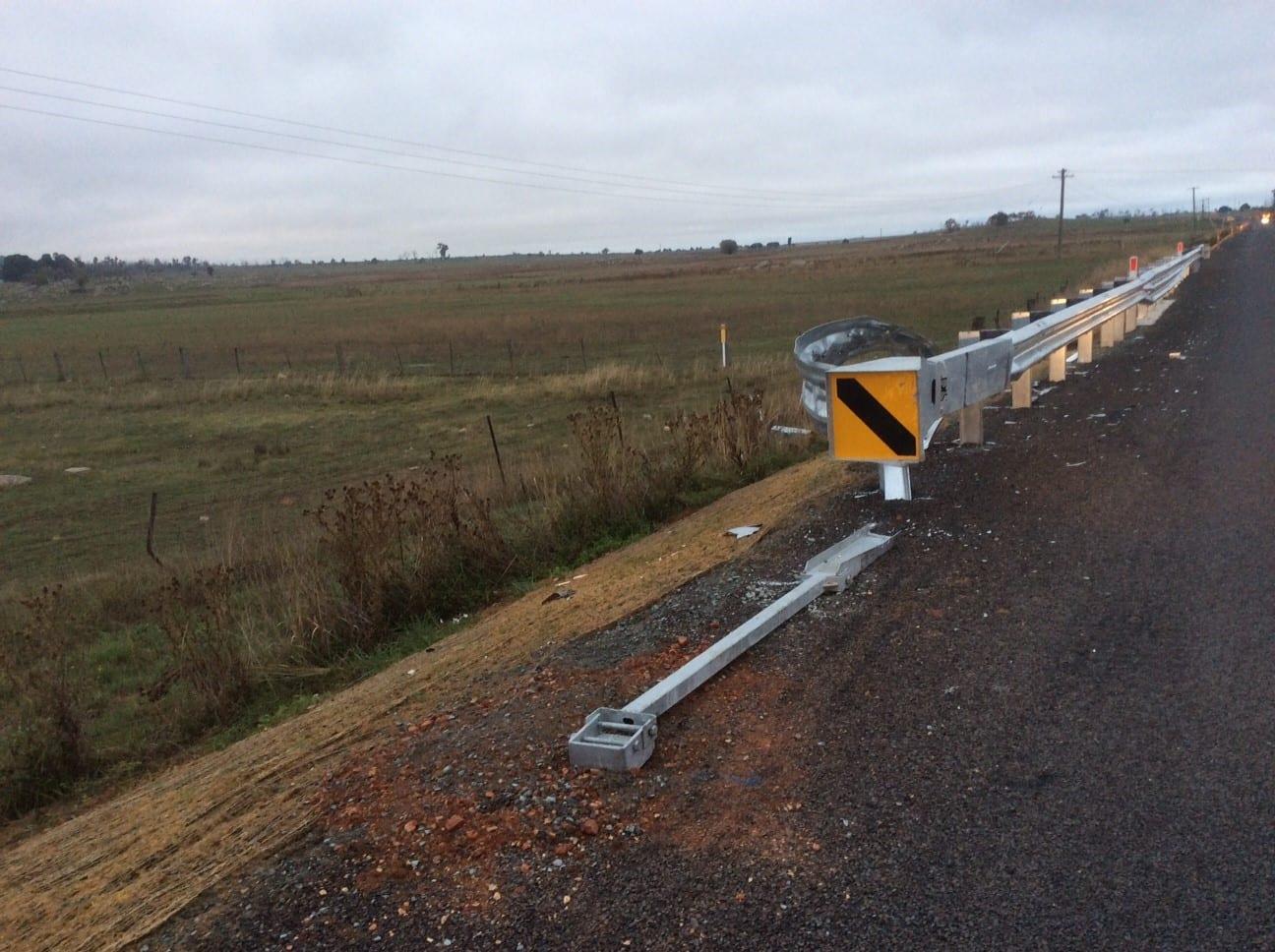 mskt end terminal road barrier saves motorists life