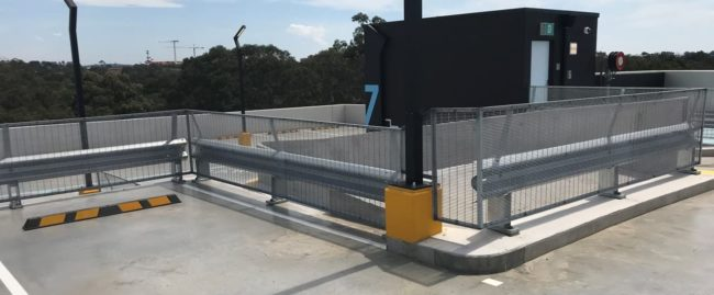 parra leagues car park ramp fall protection with rhino stop