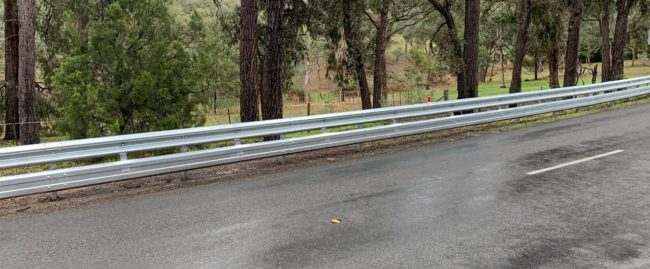 ramshield guardrail with attached biker shield protection