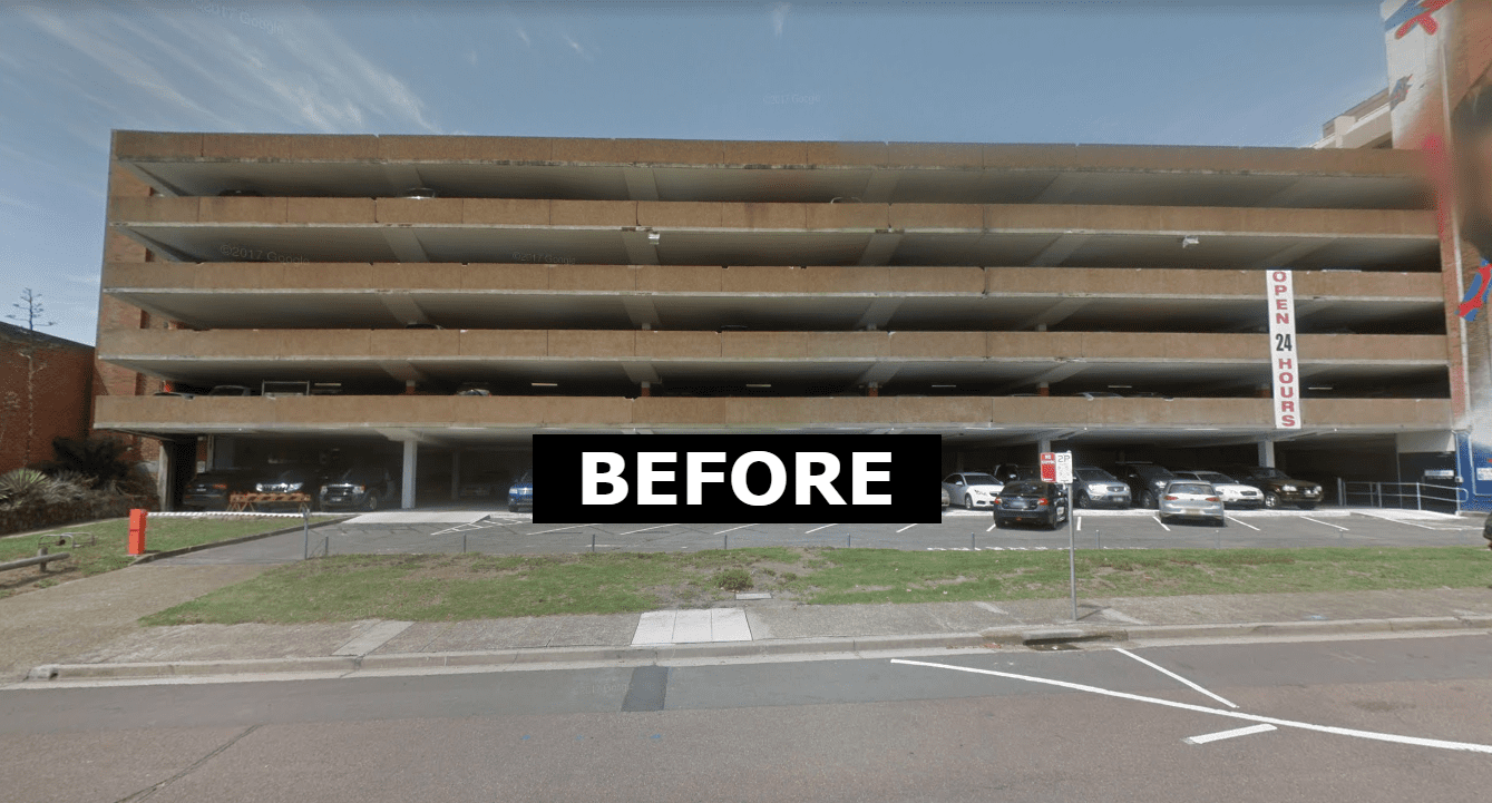 civic car park concrete upstands replaced with rhino stop safety barrier