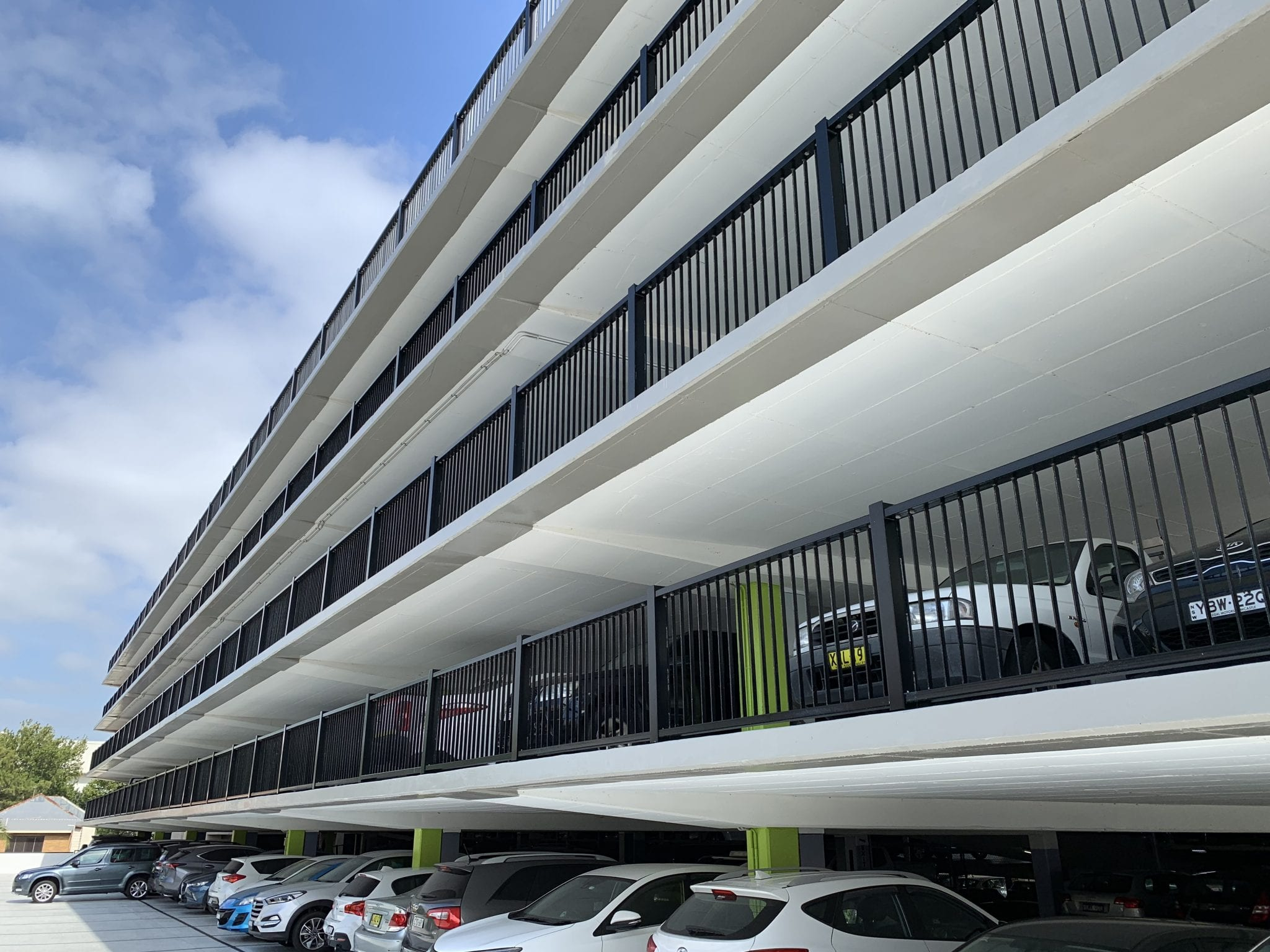 rhino stop elite provides crossflow ventilation on the civic car park
