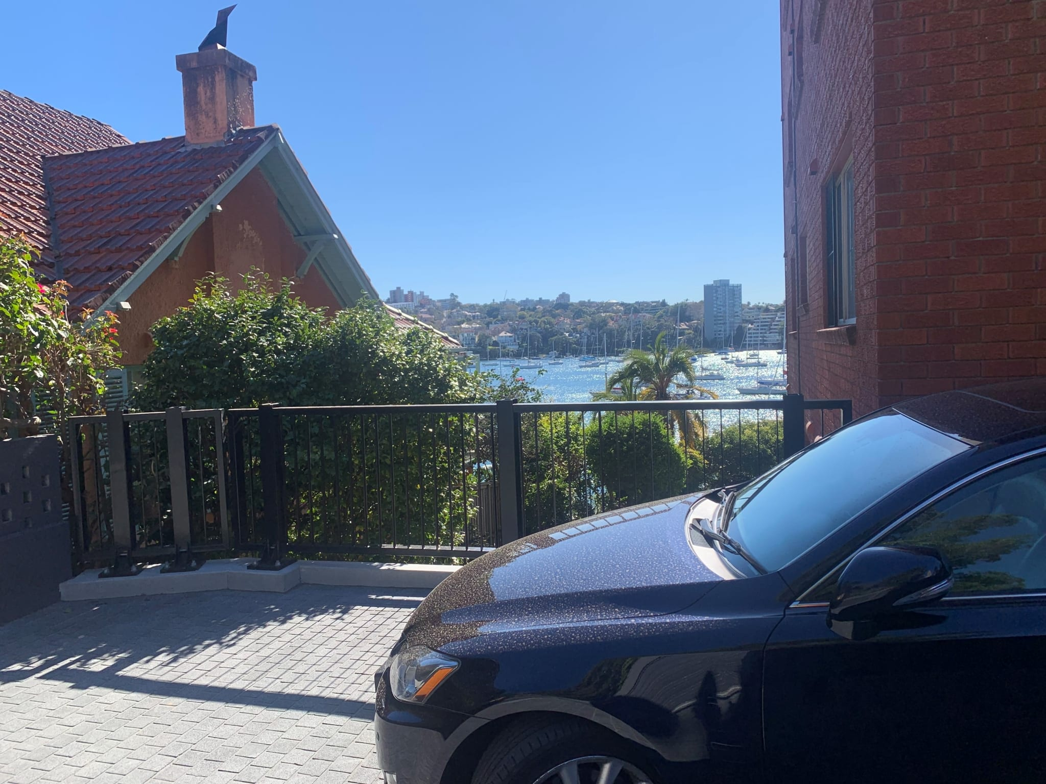 rhino stop elite car park safety barrier project at kirribilli apartment block