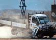 hostile vehicle barrier stopping a truck